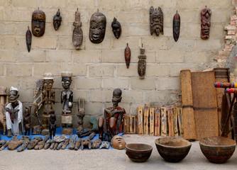 Souvenirs in the street-Saint Louis du Senegal