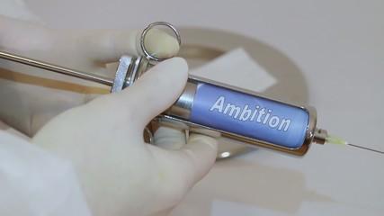 Ambition impfen, einimpfen, injezieren, spritzen, einspritzen