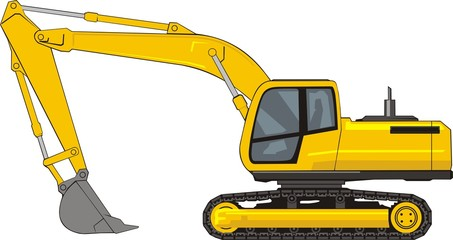 building excavator on a caterpillar base