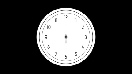 Five animated clocks with transparency