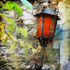 old lanterns of Europe, artistic picture