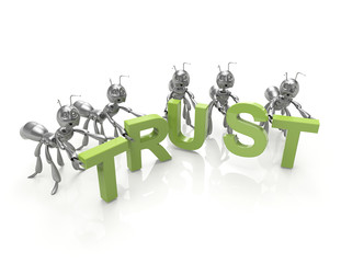 Team forming Trust word