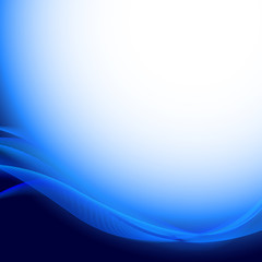 Abstract wavy blue background