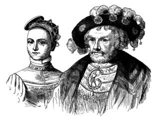 Pair - Couple - Renaissance : 16th century