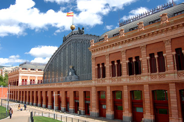 Atocha Railway Station in Madrid