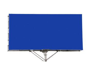 Blue empty billboard