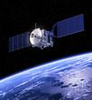 Satellite Orbiting Earth - 64962973