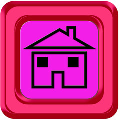bouton home maison rose