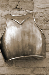 old armor hanging on the wall