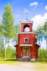 orthodox chapel Birth of Mother of God. Mutalahti, Finland