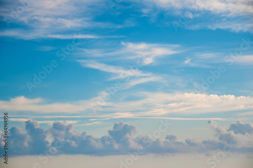 Heaven  - blue sky, beautiful white clouds, sunshine