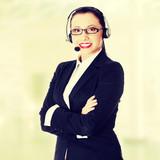 Attractive customer support representative