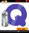 letter q with quartz illustration