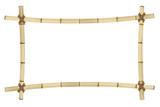 Fototapety Frame of old bamboo sticks. Vector illustration