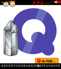 letter q with quartz illustration