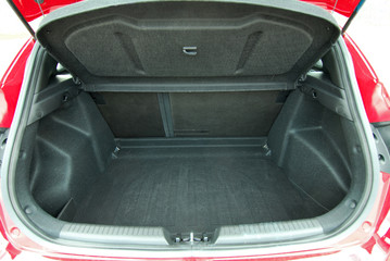 empty car trunk