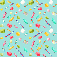 Candy seamless pattern