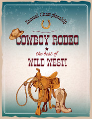 Rodeo poster colored