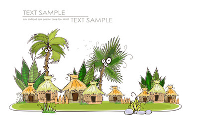 beach holidays Design elements set