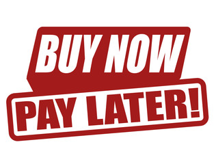 Buy now pay later label