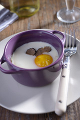 Baked egg with truffle