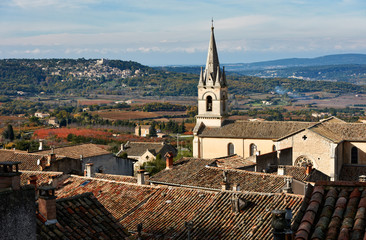 Cathedral of Bonnieux and Lacoste village