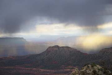 Storm above Grand Canyon, Arizona, USA