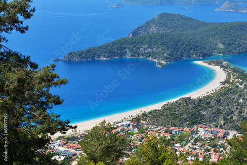 Aerial view of Oludeniz, Turkey