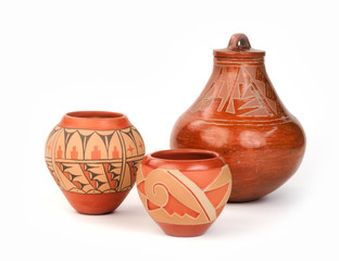 Vintage Native American Pueblo Pottery.
