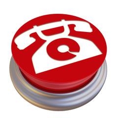 Круглая кнопка с символом телефона