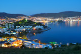 Night view of Bodrum, Turkey