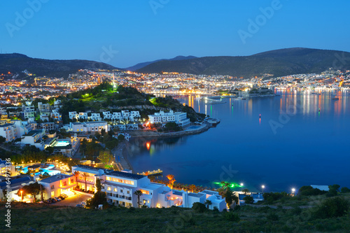 Aluminium Turkey Night view of Bodrum, Turkey