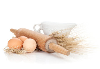 Baking ingredients and utensils