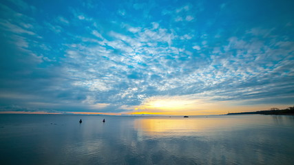 Sunset over the Gulf of Finland  - May 2014. timelapse