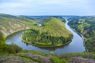 Saar loop at Mettlach, famous view point
