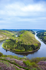 Saar loop at Mettlach. A famous view point.