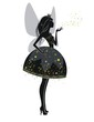 Фея в черном платье
