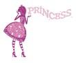 Силуэт принцессы в розовом платье