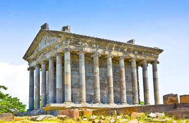 Antique temple in Garni, Armenia