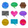 Speech balloon set of mix color