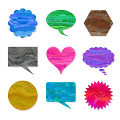 Speech balloon set of mix color