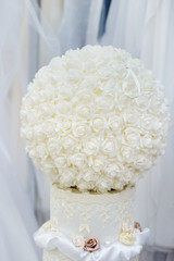 Ball of roses as decoration