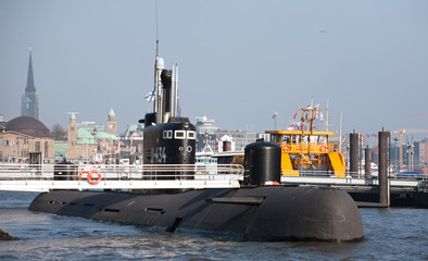 russian submarine in Hamburg