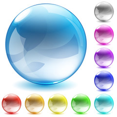 Multicolored glass spheres