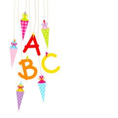 Bunte Schultüten & ABC