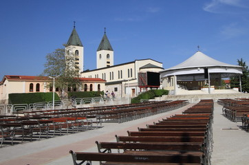Saint James church of Medjugorje in Herzegovina