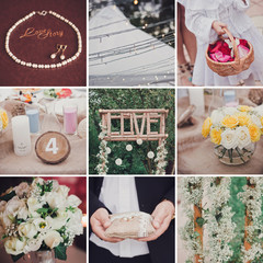 Eco wedding style collage
