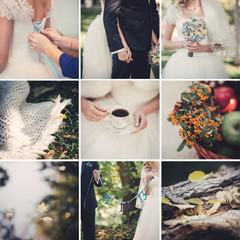 Autumn wedding collage