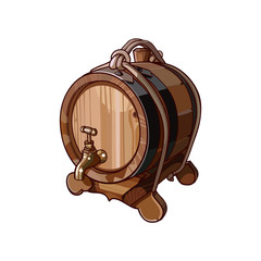 wine barrel with tap