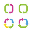 Colorful cycle arrows. Vector illustration.